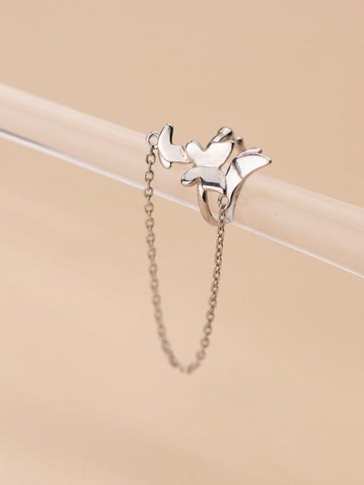 silver 925 Sterling Silver Tassel Minimalist Threader Earring