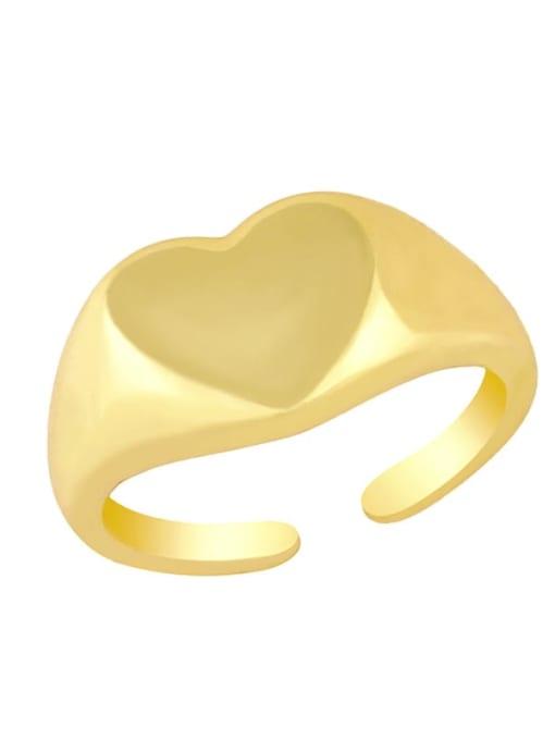 CC Brass Water Drop Hip Hop Band Ring 2