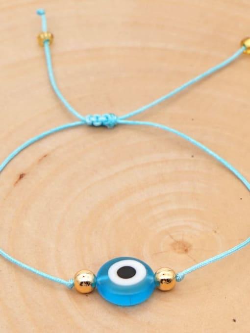 QT B200188H Stainless steel Bead Evil Eye Bohemia Adjustable Bracelet