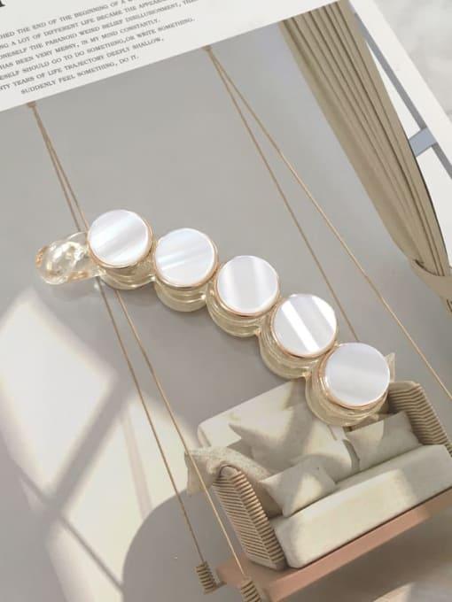 transparent Cellulose Acetate Acrylic Minimalist Geometric Jaw Hair Claw
