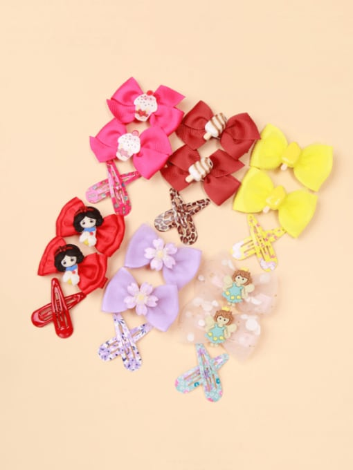 YOKI KIDS Alloy Yarn Cute Bowknot  Multi Color Hair Barrette 1