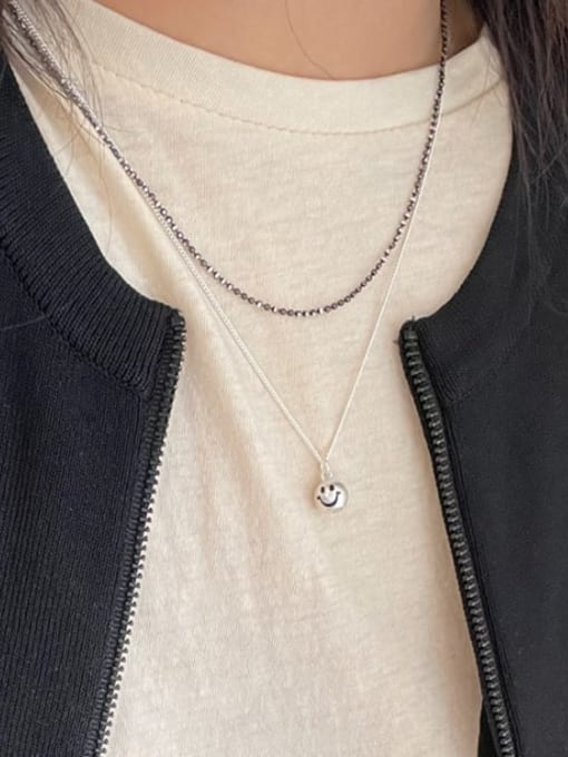 Boomer Cat 925 Sterling Silver Smiley Minimalist Necklace 1
