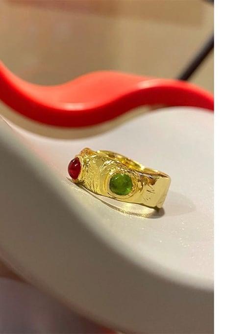 LI MUMU Brass Irregular Vintage Band Ring 0