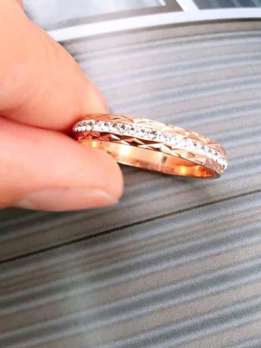 MIYA Titanium Steel Rhinestone Round Minimalist Band Ring 1