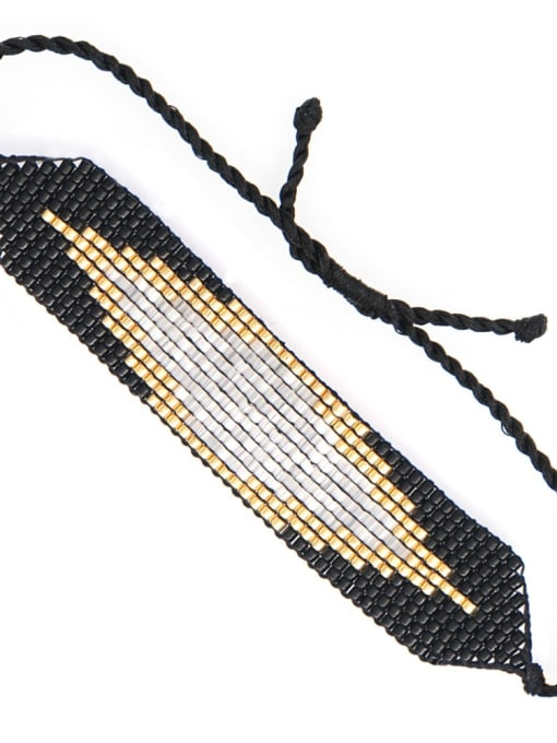 Roxi Multi Color Geometric Miyuki DB Bead Bohemia Handmade Weave Bracelet 2
