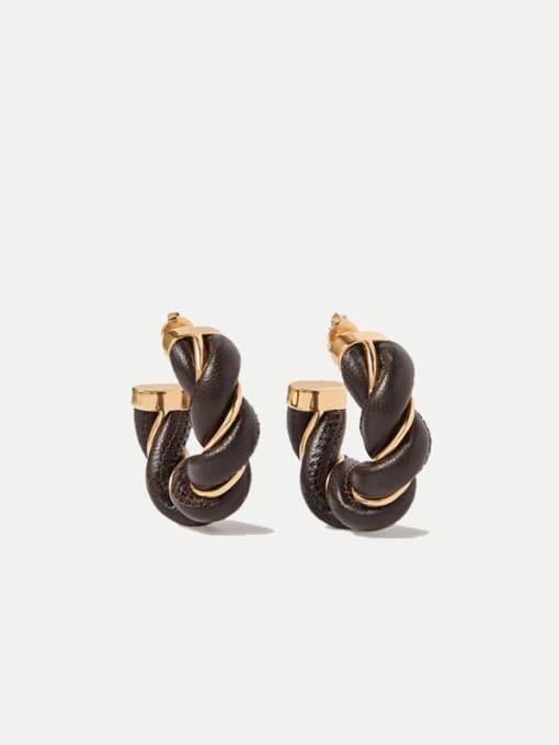LI MUMU Brass Geometric Vintage Stud Earring 1