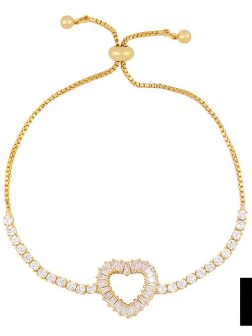 CC Alloy Cubic Zirconia Cross Vintage Link Bracelet 4
