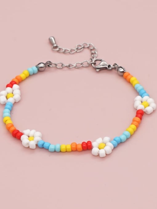 Roxi Stainless steel Bohemia Flower Bead Multi Color Bracelet and Necklace Set 2