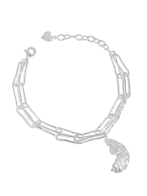 DAKA 925 Sterling Silver Geometric Vintage Strand Bracelet 0