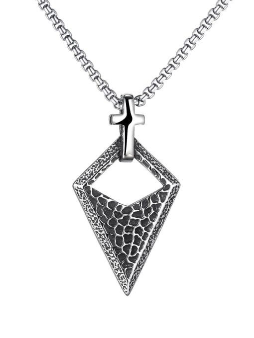 Open Sky Stainless steel  Triangle Hip Hop Pendant