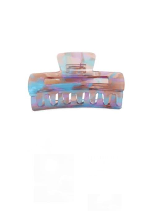 Magic blue purple Cellulose Acetate Minimalist Geometric Zinc Alloy Jaw Hair Claw