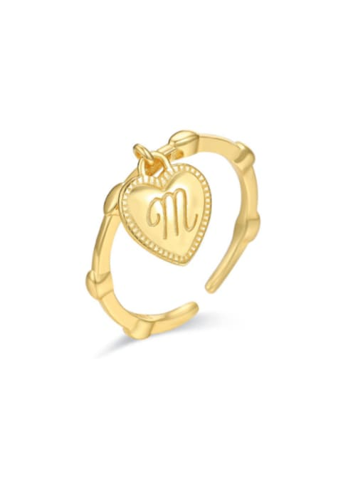 Boomer Cat 925 Sterling Silver Heart Letter Vintage Band Ring 0