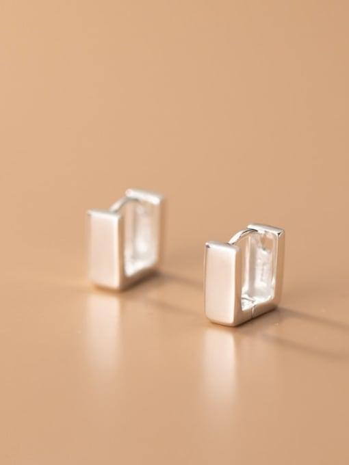 Rosh 925 Sterling Silver Geometric Minimalist Stud Earring