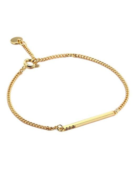 CHARME Brass Geometric Minimalist Link Bracelet 4