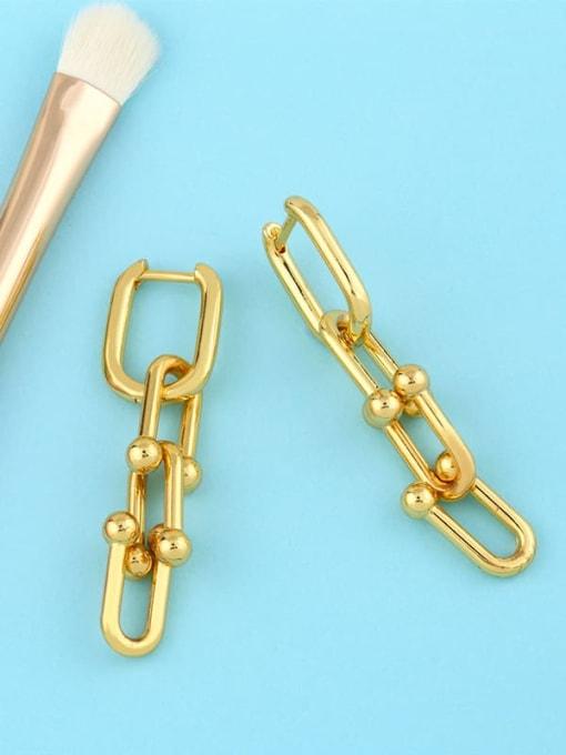 CC Brass Hollow Geometric Vintage Drop Earring 2