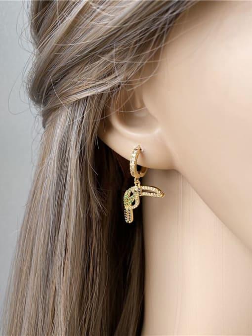 DUDU Brass Cubic Zirconia  Asymmetry Cute  Bird  Huggie Earring 2