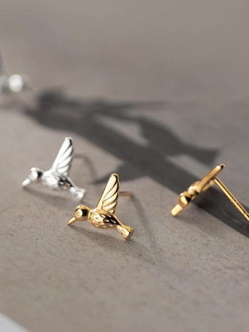 Rosh 925 Sterling Silver Bird Cute Stud Earring 1