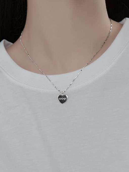 Rosh 925 Sterling Silver Heart Minimalist Necklace 1