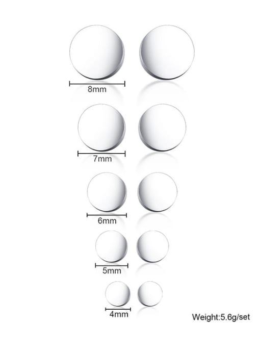CONG Titanium Steel Round Minimalist Stud Earring 2