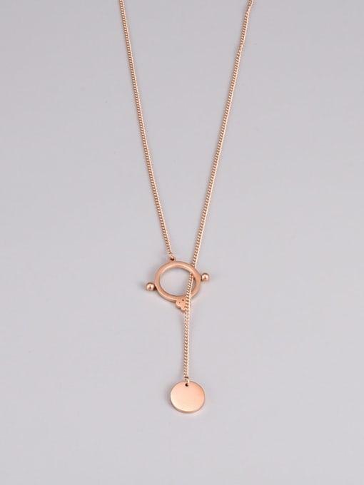 A TEEM Titanium Steel Tassel Minimalist Necklace 1