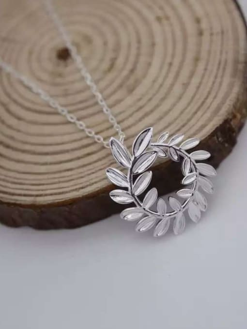 Rosh 925 Sterling Silver Hollow Leaf Minimalist Necklace 3