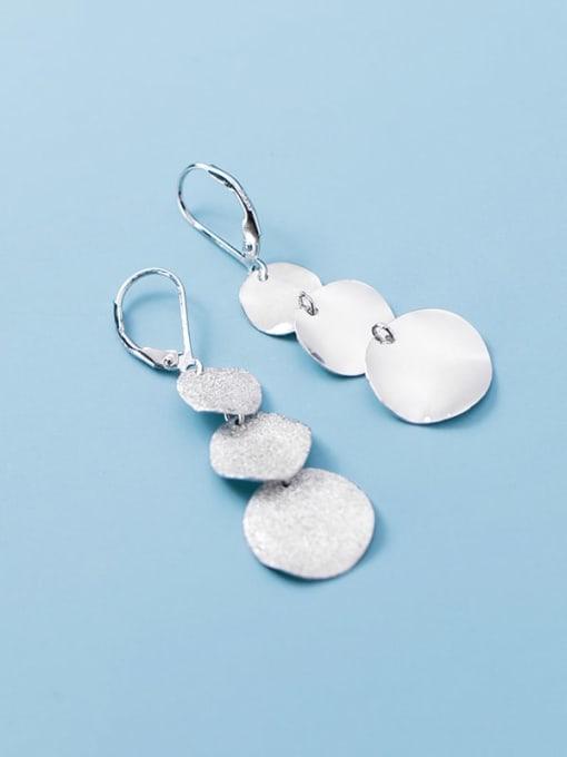 Rosh 925 Sterling Silver Geometric Minimalist Drop Earring