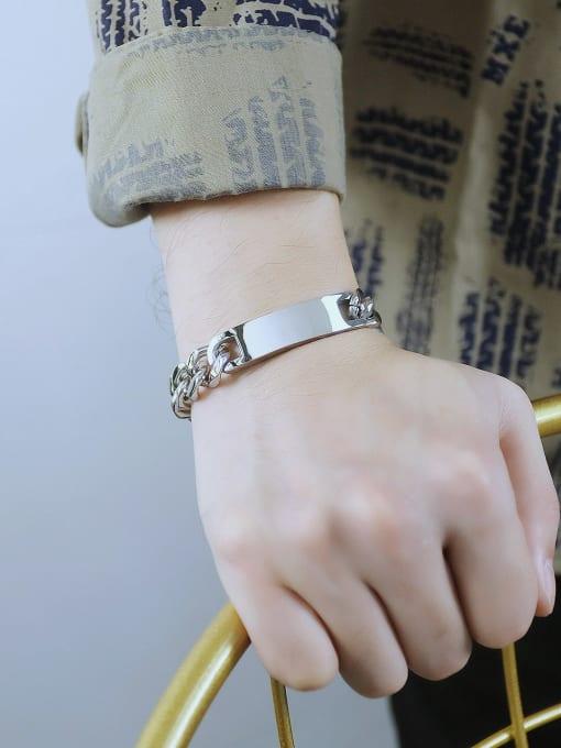 Open Sky Titanium Steel Geometric Vintage Link Bracelet 2