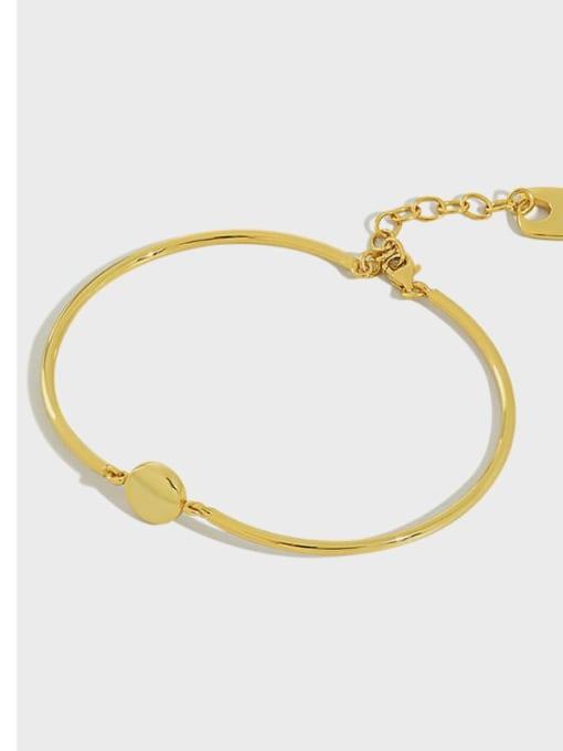 DAKA 925 Sterling Silver Geometric Minimalist Adjustable Bracelet