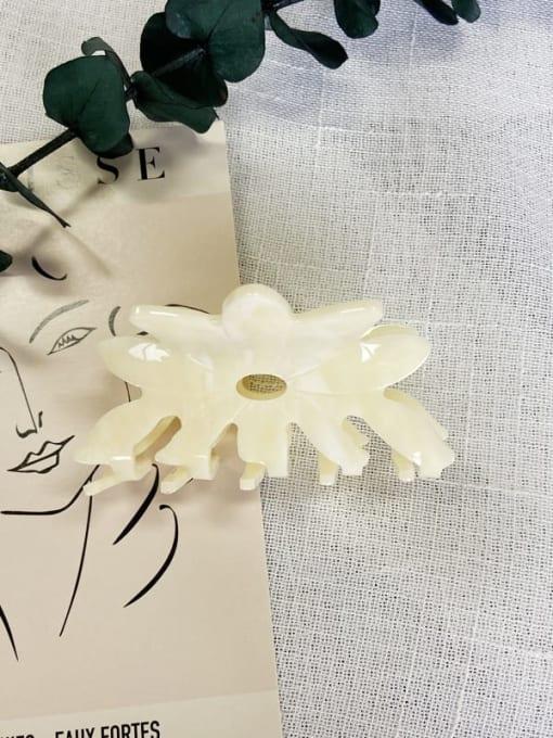 Solid yellow Acrylic Minimalist Hollow Flower Jaw Hair Claw