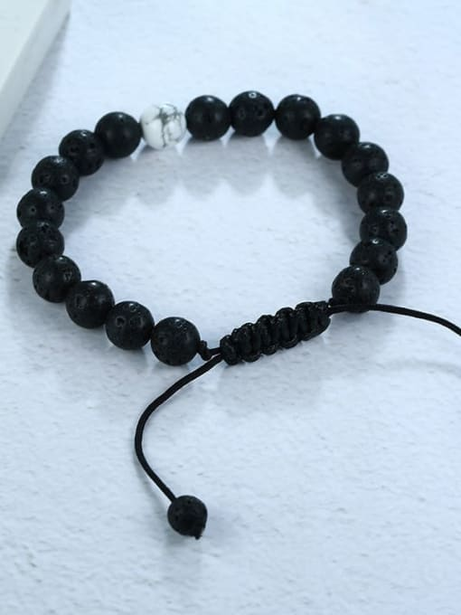 CONG Stainless steel Bead Geometric Vintage Beaded Bracelet 1