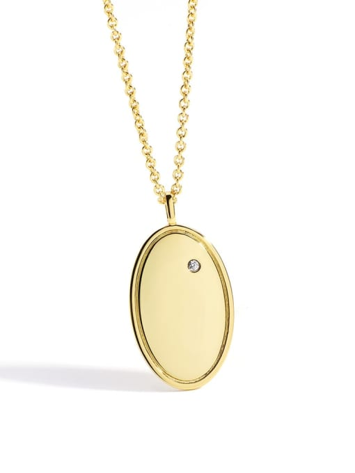 Gold Brass Geometric Minimalist Necklace