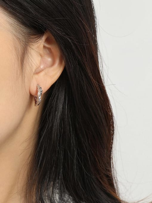 DAKA 925 Sterling Silver Geometric Vintage Stud Earring 1