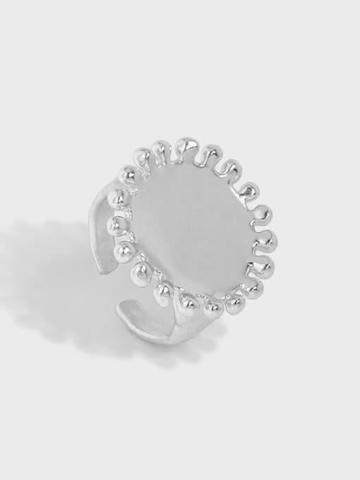 DAKA 925 Sterling Silver Round Vintage Band Ring 3