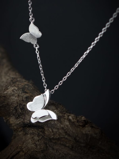Rosh 925 Sterling Silver Butterfly Minimalist Necklace