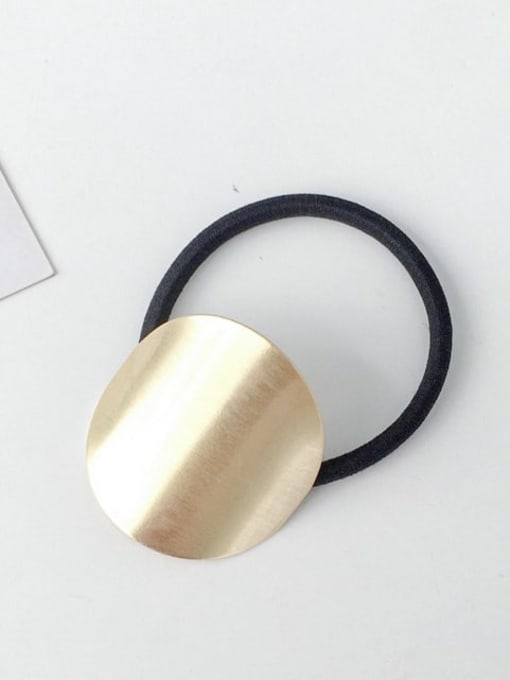 1 Gold Round Rubber band Minimalist Geometric Alloy Hair Rope