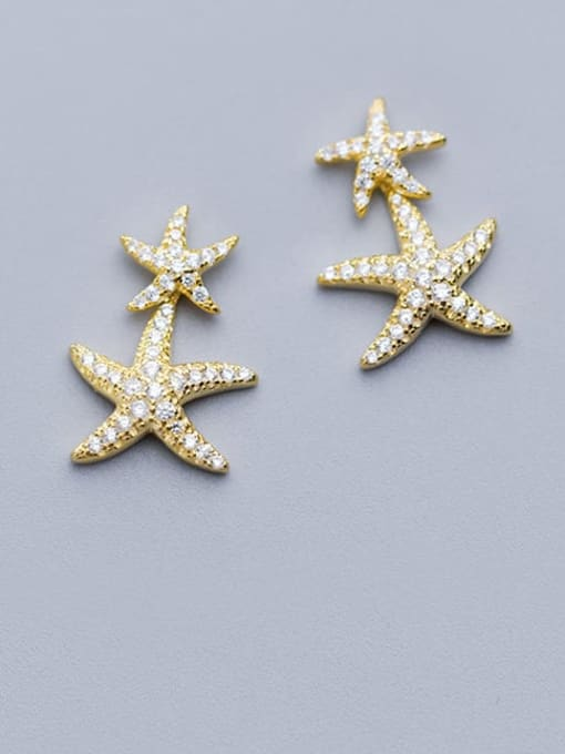 Rosh 925 Sterling Silver Cubic Zirconia Star Ethnic Stud Earring