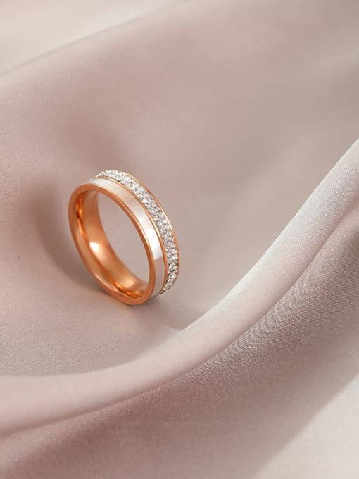 MIYA Titanium Steel Shell Round Minimalist Band Ring 2