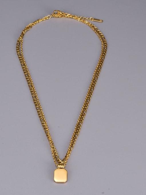 A TEEM Titanium Steel Acrylic Geometric Vintage Multi Strand Necklace 2