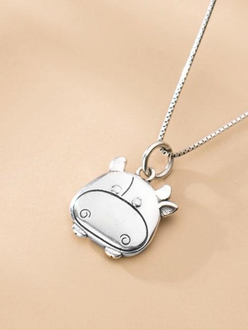 Rosh 925 Sterling Silver Minimalist Pig Pendant 1