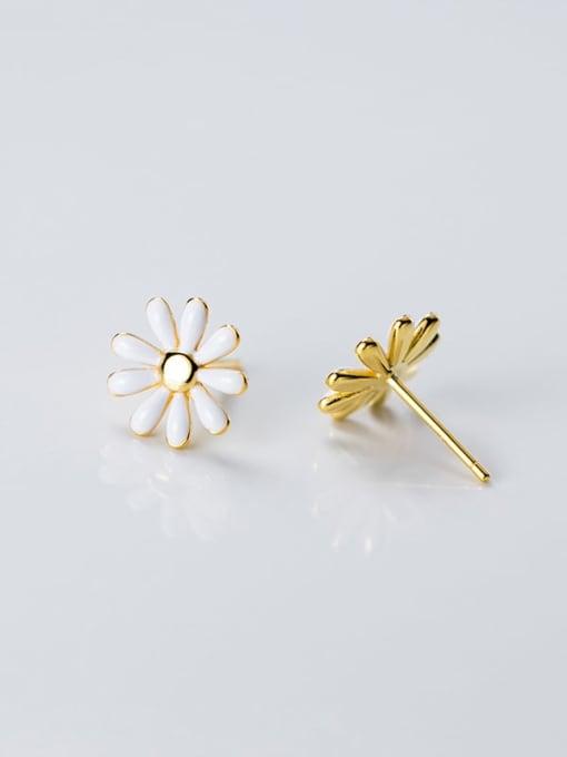 Rosh 925 Sterling Silver Enamel Flower Minimalist Stud Earring 2