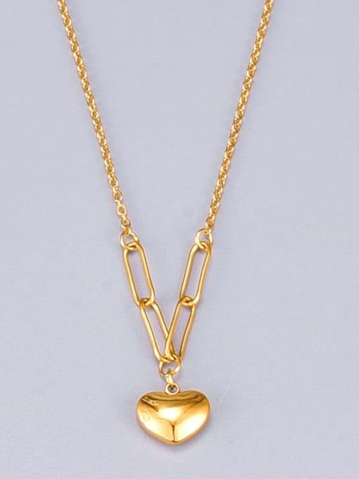 A TEEM Titanium Shell Heart Minimalist Necklace 4