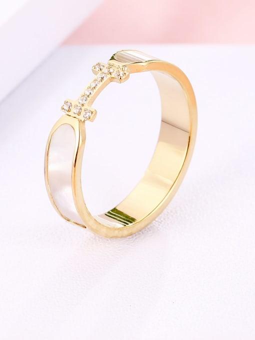 MIYA Titanium Steel Shell Geometric Minimalist Band Ring 1