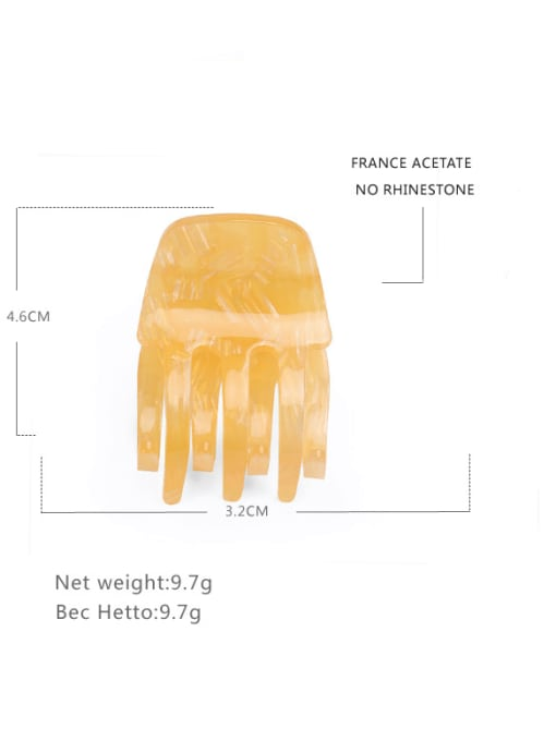orange Cellulose Acetate Minimalist Geometric Zinc Alloy Jaw Hair Claw