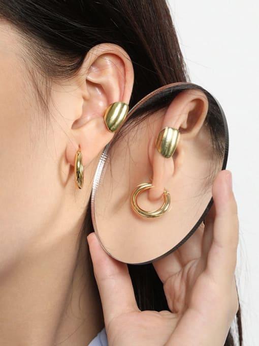 DAKA 925 Sterling Silver Geometric Vintage Huggie Earring 3