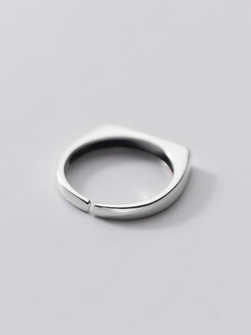 Rosh 925 Sterling Silver Letter Minimalist Band Ring 3