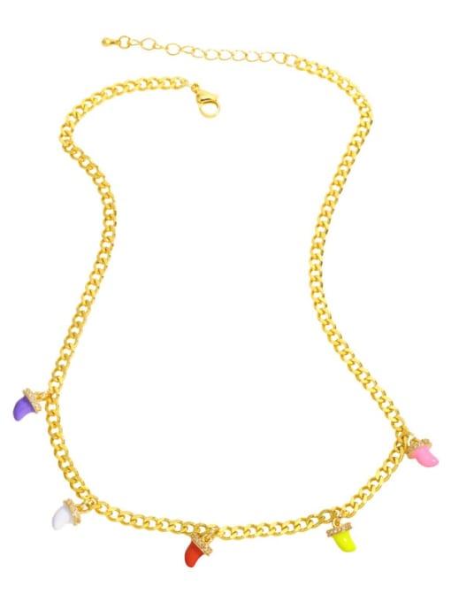 MMBEADS Brass Enamel Geometric Hip Hop Necklace 0