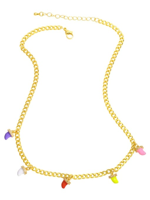 MMBEADS Brass Enamel Geometric Hip Hop Necklace