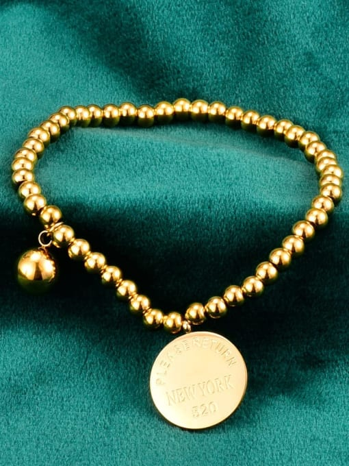 A TEEM Titanium Letter Vintage Beaded Bracelet