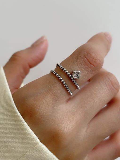 Mahua ring j140 2.1g 925 Sterling Silver Irregular Vintage Band Ring