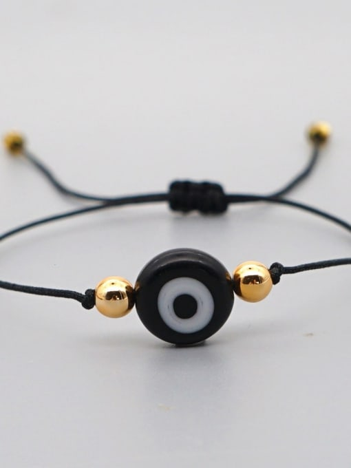 QT B200188B Stainless steel Bead Evil Eye Bohemia Adjustable Bracelet